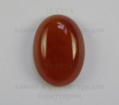 Кабошон овальный Агат красный 25х18х7 мм ()