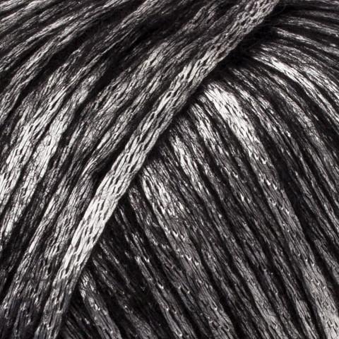 Пряжа Gazzal Rock n Roll 13285 черный металлик
