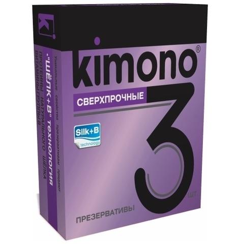 Презервативы KIMONO (сверхпрочные) 3 шт