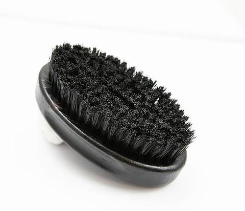 Большая щеткая для бороды из щетины кабана