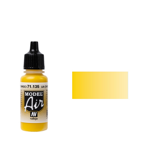 135 Краска Model Air RAL1003 Желтый Хром (IJA Chrome Yellow) укрывистый, 17 мл