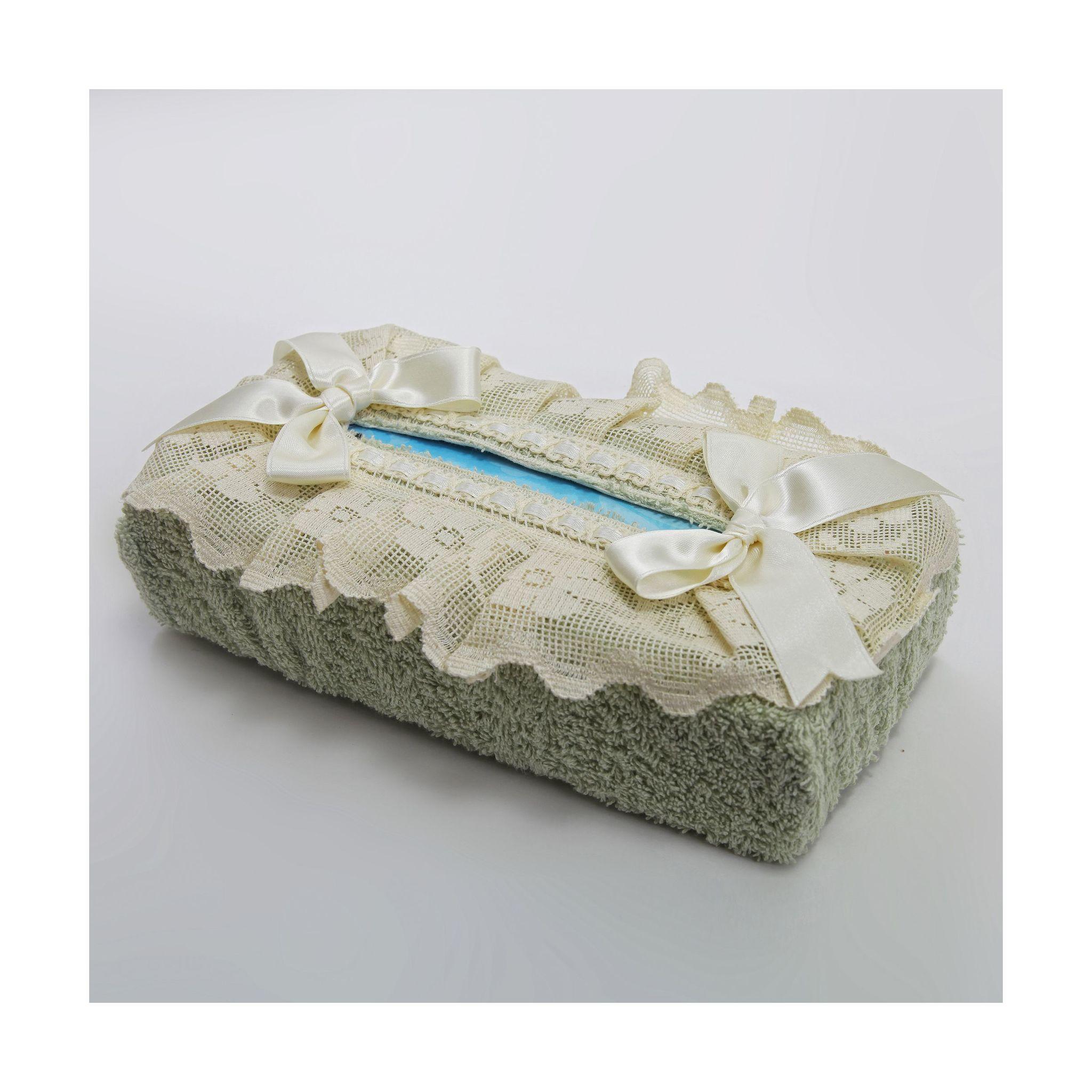 Салфетница для бумажных полотенец Buratto зеленая от Old Florence