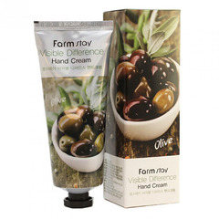Farmstay Visible Difference Hand Cream Olive - Крем для рук с экстрактом оливы