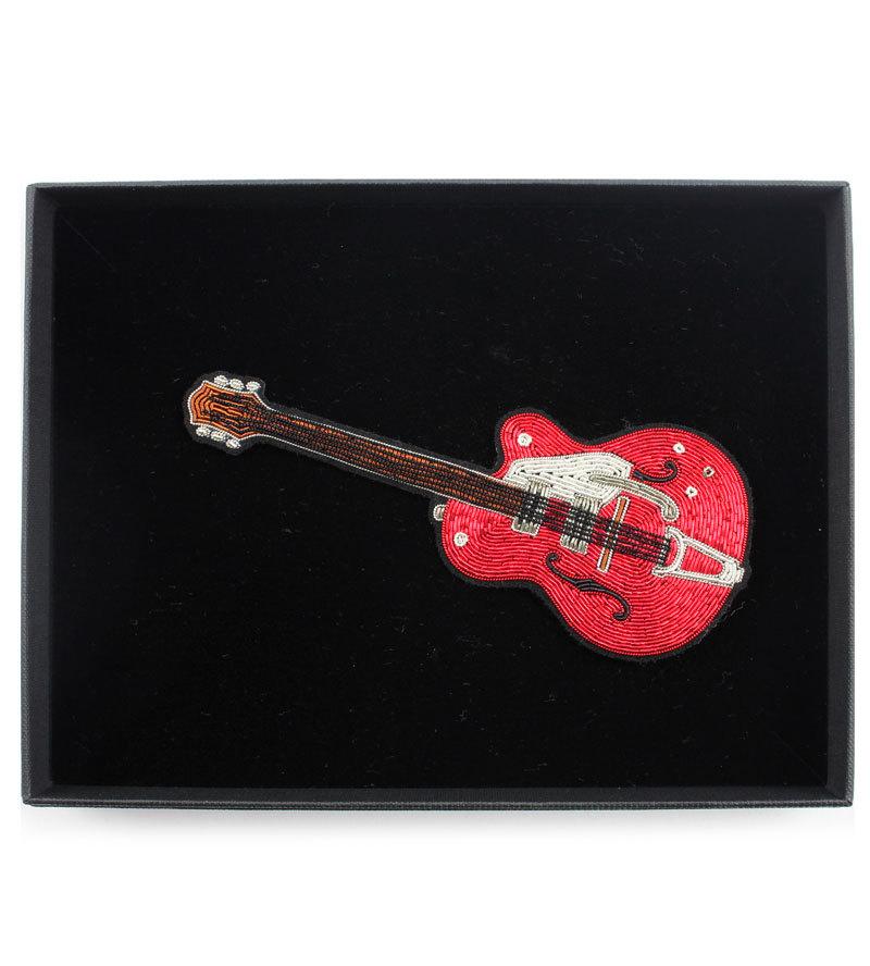 Брошь  Red Guitar Large