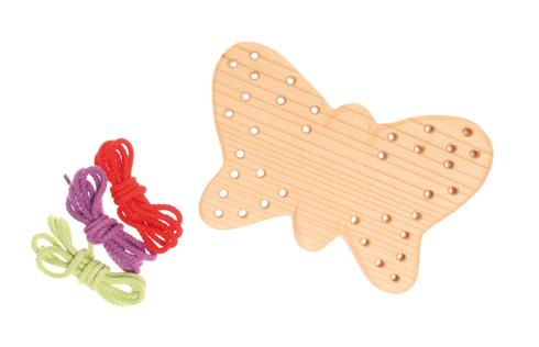 Шнуровка Бабочка, неокрашенная