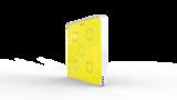 Выключатель пятиканальный Heltun (Жёлтая панель, Белая рамка)