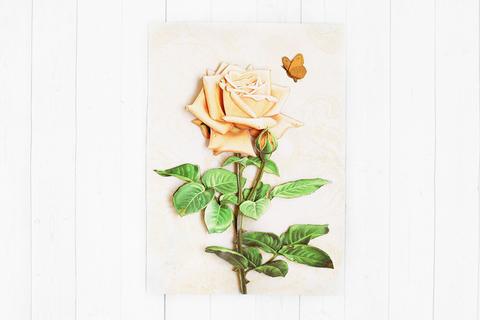 Винтажная роза - готовая работа, фронтальный вид.