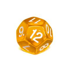 Куб D12 прозрачный: Желтый
