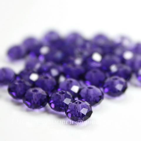 5040 Бусина - рондель с огранкой Сваровски Purple Velvet 6 мм