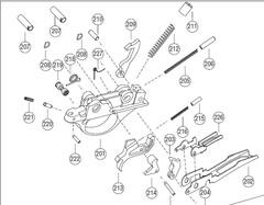 Крючок спусковой в сборе для Hatsan Escort, (д. 213,216,215,214)