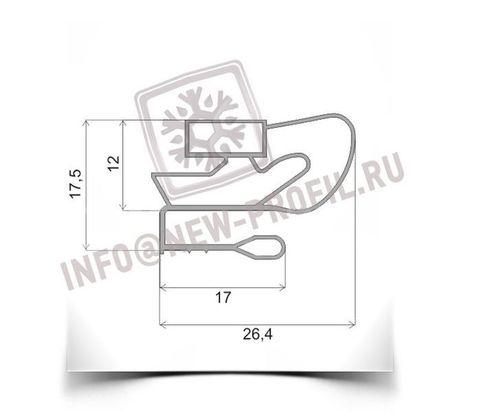 Уплотнитель 143,5*80,5 см для холодильного шкафа Спутник (глухая дверь)Профиль 009