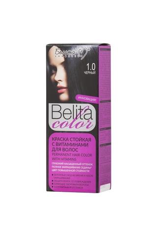 Белита-М Belita Color Стойкая краска с витаминами для волос тон №01.00 Черный