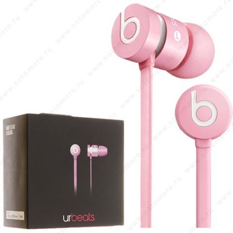 Наушники Monster Beats UrBeats проводные с кнопкой ответа розовый