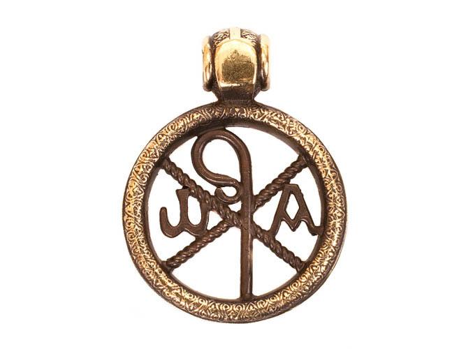 Православные украшения Хризма Медальон Христа RH-1337.jpg