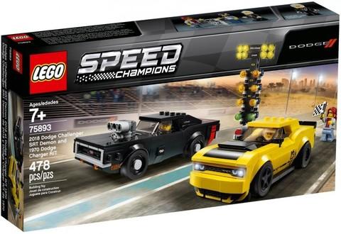 LEGO Speed Champions: Автомобили 2018 Dodge Challenger SRT Demon и 1970 Dodge Charger R/T 75893 — 2018 Dodge Challenger SRT Demon and 1970 Dodge Charger R/T — Лего Спид чампионс Чемпионы скорости