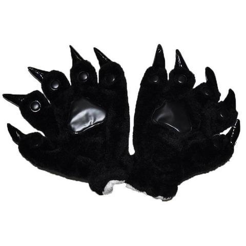 Перчатки кигуруми черные