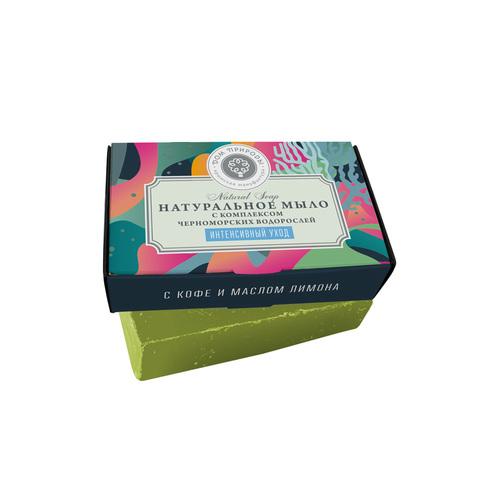 МДП Натуральное мыло с комплексом черноморских водорослей Интенсивный уход с кофе и маслом лимона, 100г
