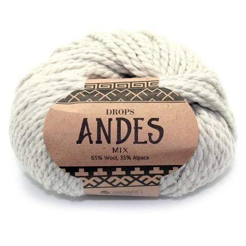 Пряжа Drops Andes 9020 светло-серый