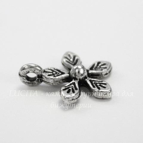 """Подвеска """"Цветочек"""" 12х10 мм (цвет - античное серебро)"""