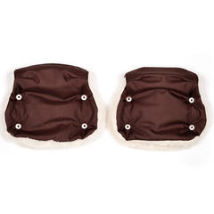 Markus. Раздельная меховая муфта Base Twin, коричневый