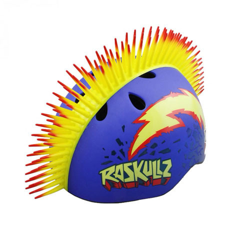 шлем, синий, ирокез