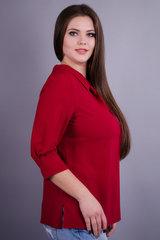 Кортни. Женская блузка больших размеров. Бордо.