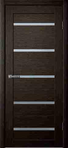 Дверь Porte line Мюнхен 26, стекло матовое, цвет венге 3D, остекленная