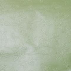 Бумага упаковочная фактурная с перламутровым  нанесением 52*75 цветы светло-зеленый 729861