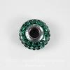 80201 Бусина Сваровски BeCharmed Pave Emerald 15х9 мм