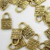 """Подвеска """"Замочек"""" 13х8 мм (цвет - античное золото)"""