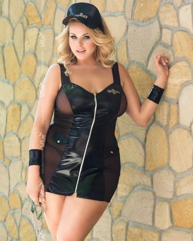 Ролевое полицейское секси-платье POLLY (BS)