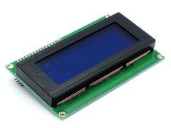 Дисплей LCD2004, 4-строчный, синий, с I2C модулем