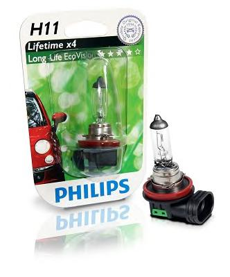 Лампы в ближний свет и противотуманные фары H11 PHILIPS h11 male to female wire harness sockets extension cable for car headlamp foglight