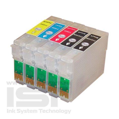 Картриджи перезаправляемые Epson Stylus Office T1100 комплект 5 штук. (ПЗК T0731, 1032, ,1033, 1034)