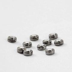 Бусина металлическая - диск 5х2 мм (цвет - черный никель), 10 штук