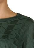 Туника из шерсти и вискозы. Цвет зеленый/фиолетовый M MISSONI