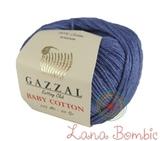 Пряжа Gazzal Baby Cotton 3431 джинс