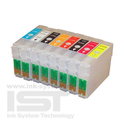Картриджи перезаправляемые Epson Stylus Photo R1900 комплект 8 штук. (ПЗК T0870-0874, 0877-0879)