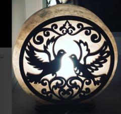 Солевая лампа Голуби 3-4кг