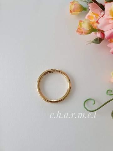 Карабин-кольцо золото, d 25 мм, 5 мм
