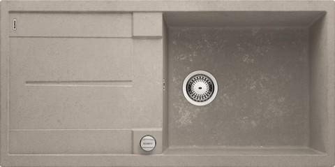 Кухонная мойка Blanco METRA XL 6S, клапан-автомат, бетон