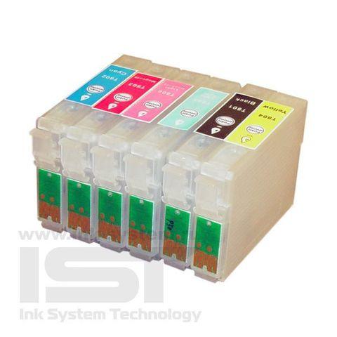 Картриджи перезаправляемые Epson Stylus Photo P50 комплект 6 штук. (ПЗК T801-806)