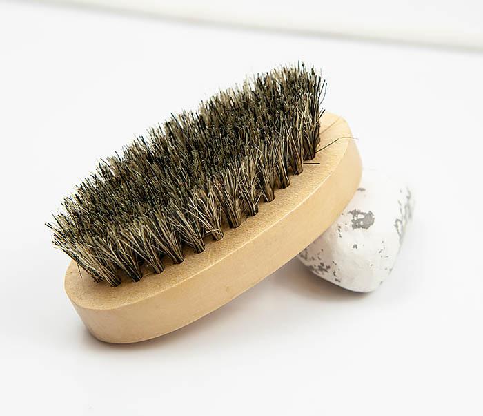 RAZ348 Деревянная щетка для бороды из щетины кабана фото 04