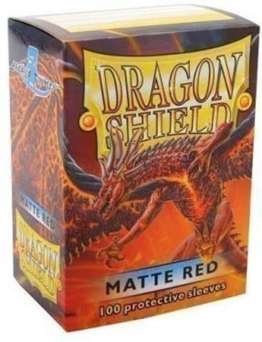 Протекторы Dragon Shield матовые красные (100 шт.)