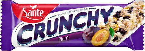Sante Батончики мюсли Crunchy со сливой в ванильной глазури, 40г