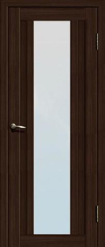 > Экошпон Двероникс 05, стекло матовое, цвет венге, остекленная