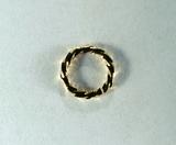 Кольцо витое разъемное, 6x1 мм, позолоченное, 5 шт.