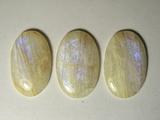 Комплект кабошонов лунного камня 28x18x4 мм - 2 шт., 27x17x4 - 1 шт.