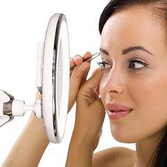 Зеркало косметическое гибкое с подсветкой и с увеличением х10