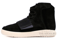 Кеды Мужские Adidas Yeezy Boost 750 Black White